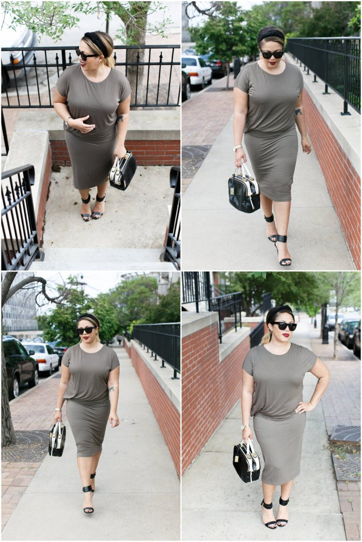 The Haute Girl | Neutral draped dress by H&M